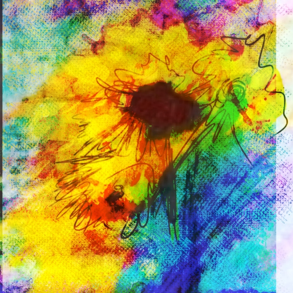 Flowers Drawn On An IPHONE