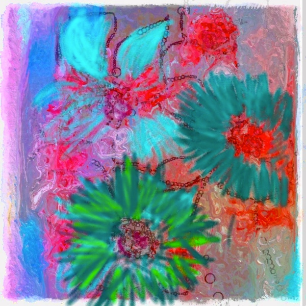 Flowers Painted On An IPHONE