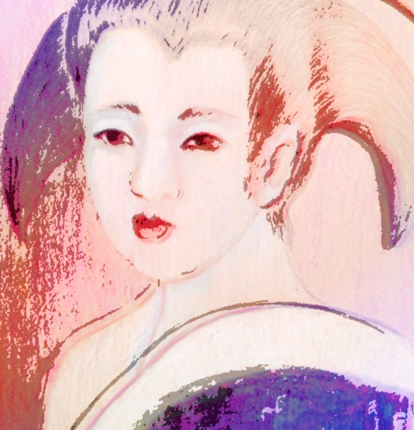 Geisha Drawn In A Kyoto Hotel Room