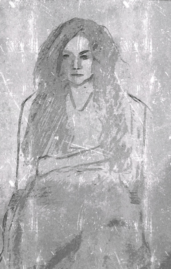 Woman In A Chair--After Klimt